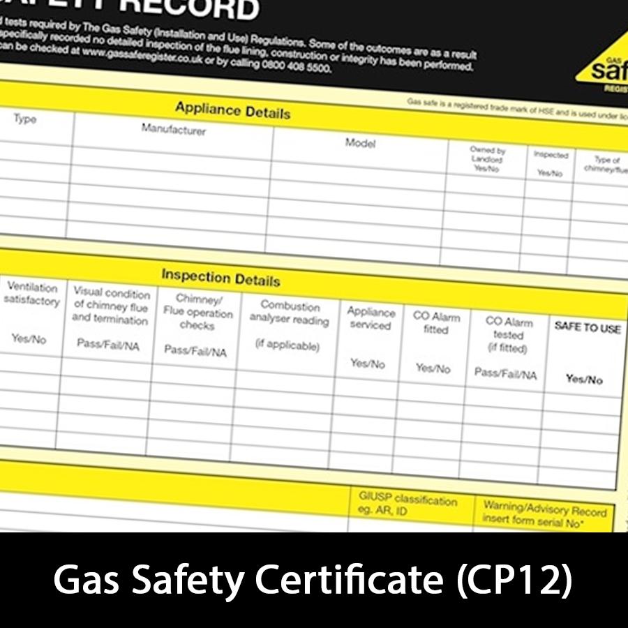 CP12 Certificates
